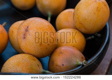 Sweet And Fresh Group Of Granadilla Or Grenadia