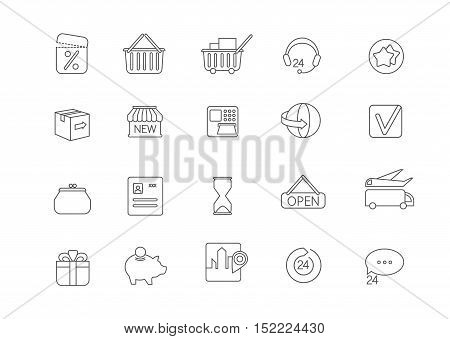 Simple icon set for all kind of internet shopping, paying on-line and other.