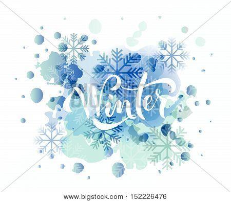 Hand Sketched Winter Lettering Typography