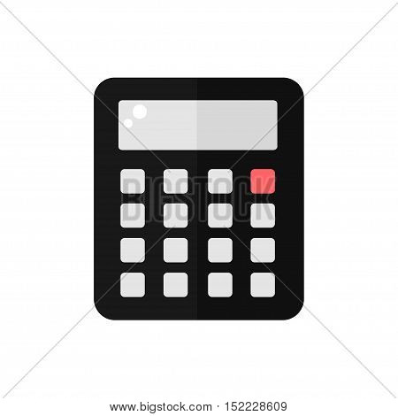 Calculator isolated icon on white background. Finance icon. Calculator for education. Flat style vector illustration.