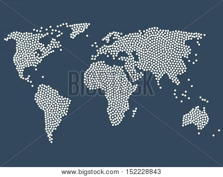Dotted world map stock vector. Dot World map. Business background.