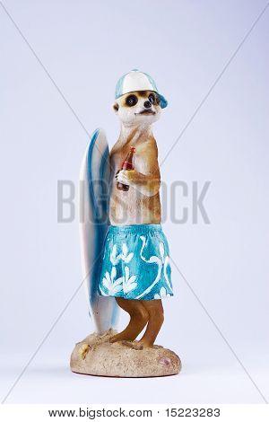 Posing Meerkat figureine