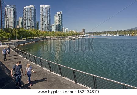 Vancouver, Canada - August 27, 2016: View Of The City From Vanco
