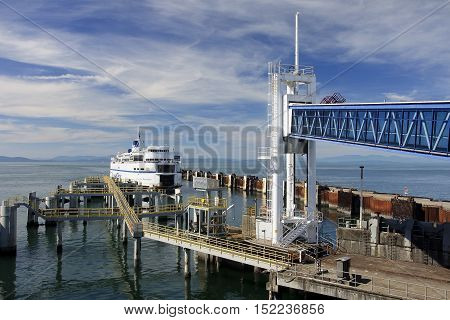 Vancouver, Canada - August 26, 2016: Ferry Terminal In Vancouver