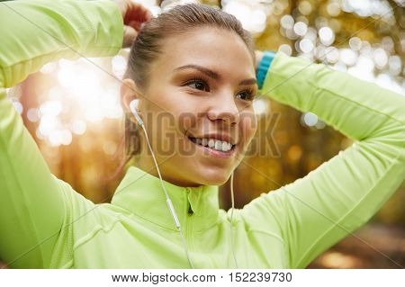 Tying Hair Before Jogging