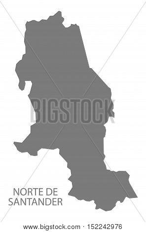 Norte de Santander Colombia Map in grey illustration high res