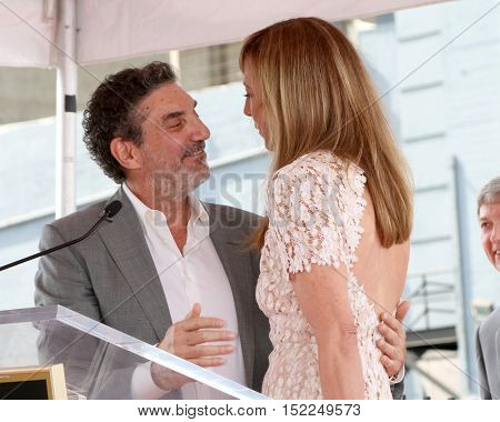 LOS ANGELES - OCT 17:  Chuck Lorre, Allison Janney at the Allison Janney Hollywood Walk of Fame Star Ceremony at the Gower and Hollywood on October 17, 2016 in Los Angeles, CA