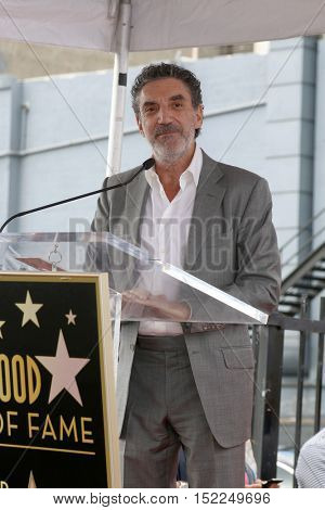 LOS ANGELES - OCT 17:  Chuck Lorre at the Allison Janney Hollywood Walk of Fame Star Ceremony at the Gower and Hollywood on October 17, 2016 in Los Angeles, CA