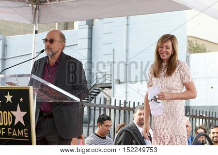 LOS ANGELES - OCT 17:  Richard Schiff, Allison Janney at the Allison Janney Hollywood Walk of Fame Star Ceremony at the Gower and Hollywood on October 17, 2016 in Los Angeles, CA
