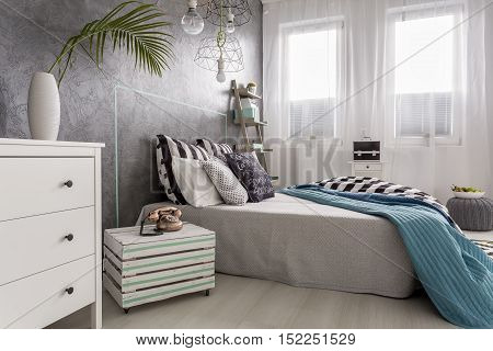 Chest Of Drawers And Wooden Nighstand