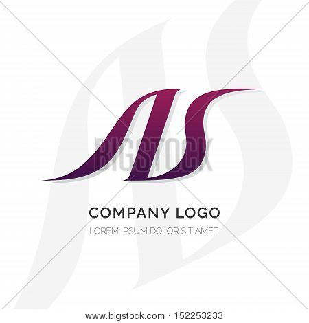 Creative A and S letter vector logo design. Vector sign. Character logotype symbols. Logo icon design for website