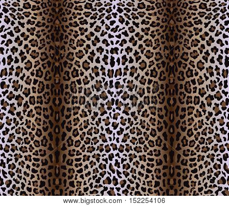 Vector illustration of seamless pattern with leopard skin. Panther background. Fashion textile print. Animal wallpaper.