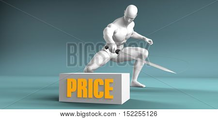 Cutting Price and Cut or Reduce Concept 3d Illustration Render
