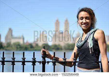 Brazilian Girl Near Water