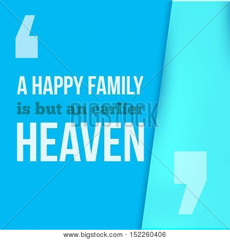 A happy famil is an earlier heaven. Can be used for housewarming posters, greeting cards, banners, home decorations.Vector illustration