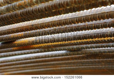 Reinforcing steel abstracts construction detail industries theme.