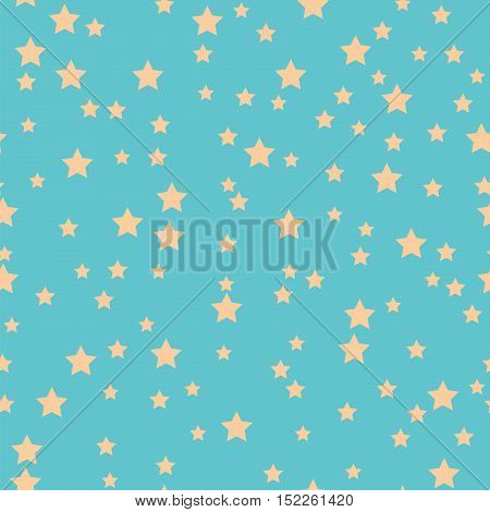 Seamless Pattern With Stars On A Blue Background