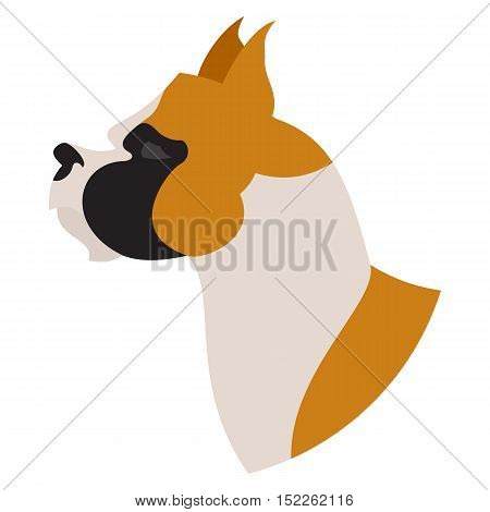 Dog head american staffordshire terrier. Pet lovely companion, vector illustration