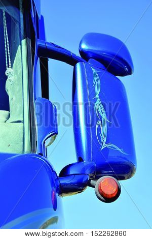 Large rear view mirrors to check its around.