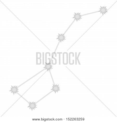 Ursa Major icon in monochrome style isolated on white background. Space symbol vector illustration.