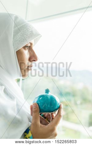 Beautiful Muslim Arabic woman inside
