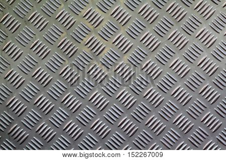 Diamond plate steel texture with for background