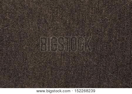 Closeup brown cotton cloth and brown cotton texture from cotton fabric for background and design with copy space for text or image.