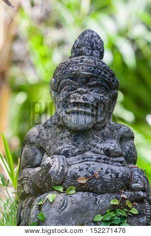 Little Statue In Bali