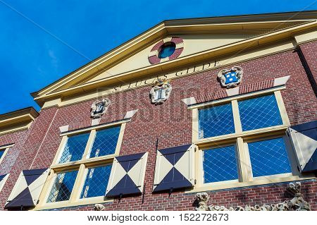 Delft, Netherlands - April 4, 2008: The Building Guild Of St. Luke