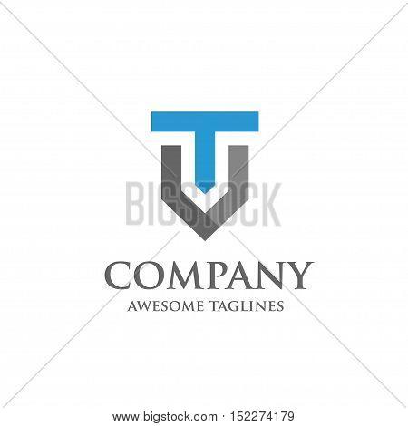 Creative Letter T and V logo. Elegant alphabet V and T letter logo. Vector illustration