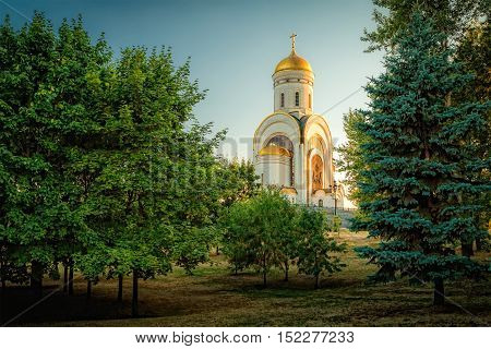 Temple of St. George on Poklonnaya Hill in Moscow