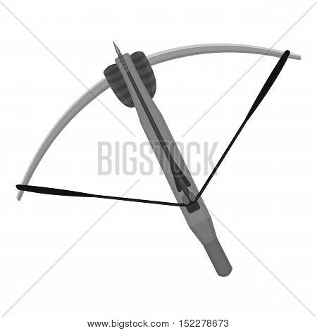 Crossbow icon monochrome. Single weapon icon from the big ammunitio, arms monochrome.