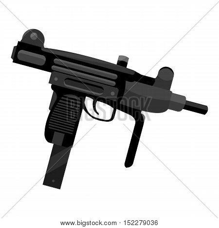 UZI weapon icon monochrome. Single weapon icon from the big ammunition, arms monochrome.