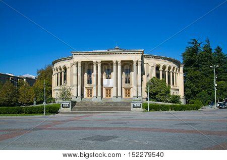 Opera House on the central square of Kutaisi, Georgia, Europe.
