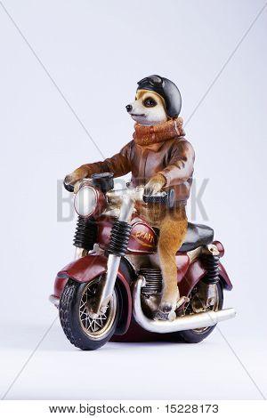 Posing Meerkat figurine