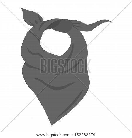 Cowboy scarf icon monochrome. Singe western icon from the wild west monochrome.