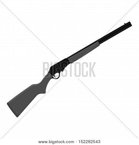 Shotgun icon monochrome. Singe western icon from the wild west monochrome.