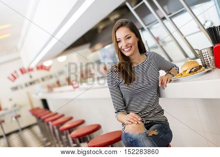 Woman In Diner
