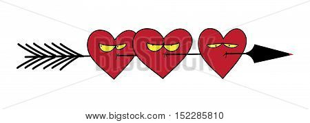 Vector illustration for greeting cards Valentine's Day. Decoration for the covers of notebooks and notepads