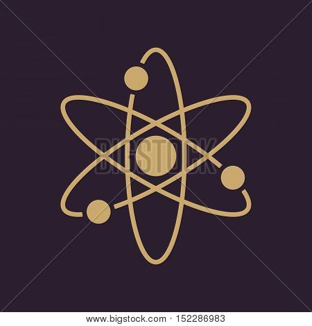 The atom icon. Atom symbol. Flat Vector illustration
