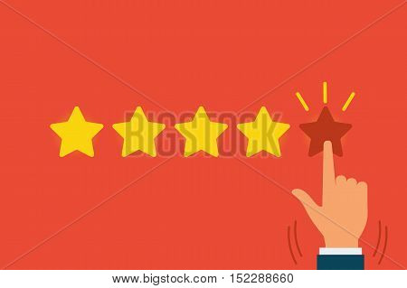 Vector Feedback concept illustration. Can use for web banner poster. Feedback or Rating system concept.