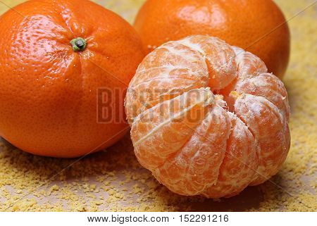 mandarin a brown Wooden Background mandarin Fruit
