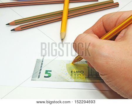 Making Fake Money.