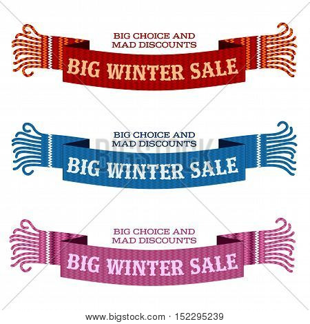 Winter Sale Sticker And Banner