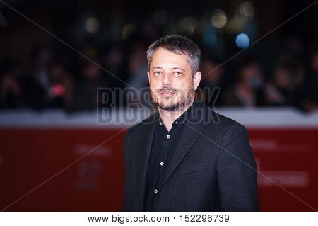 Rome Italy - October 17 2016: Director Benedict Andrews from the movie 'Una' walks a red carpet for 'Captain Fantastic' during the 11th Rome Film Festival at Auditorium Parco Della Musica.