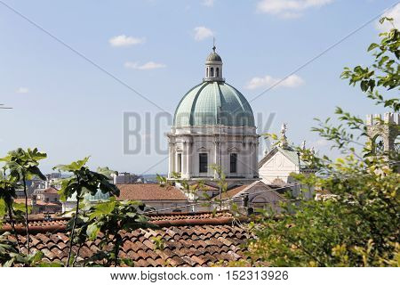 dome of the cathedral of Brescia in northern Italy