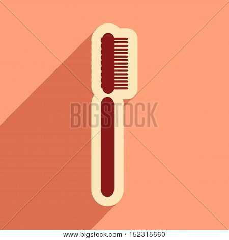 Icon of tooth brush in flat style