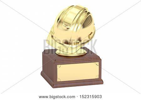 Golden Engineering Award concept 3D rendering on white