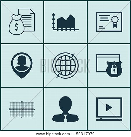 Set Of 9 Universal Editable Icons For Marketing, Project Management And Human Resources Topics. Incl