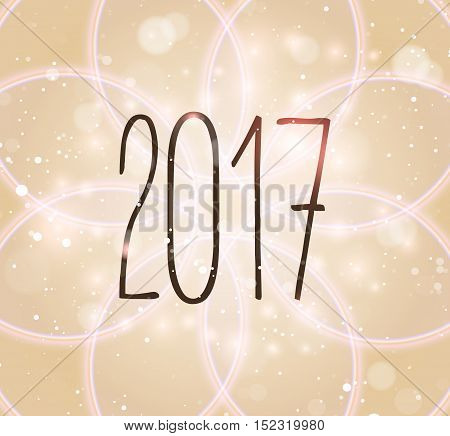 Happy New Year 2017 colorful text Card